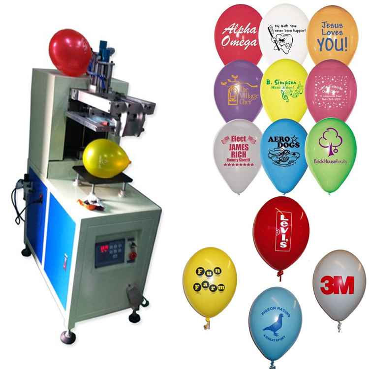 1 color Balloon special screen printer