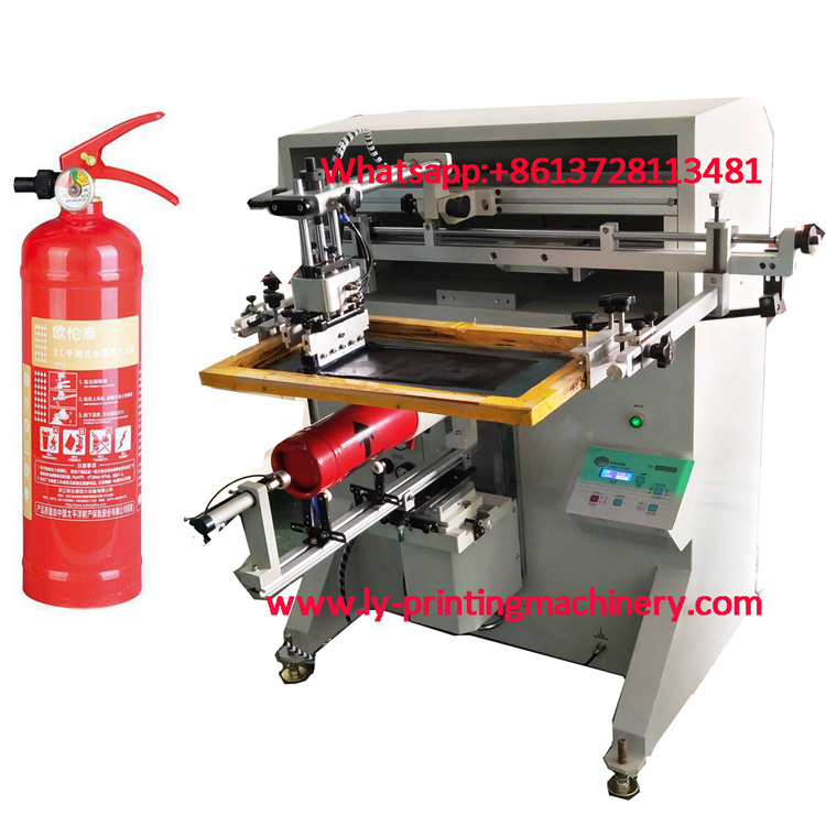 Fire extinguisher cylindrical screen printer